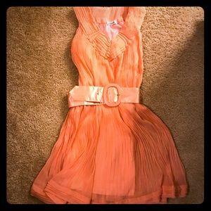 NWOT Beautiful handmade silk dress peach 🍑
